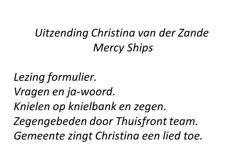 Uitzending Christina van der Zande