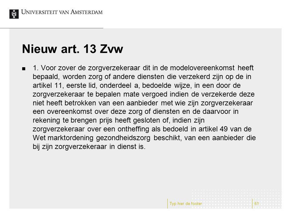 Nieuw art. 13 Zvw