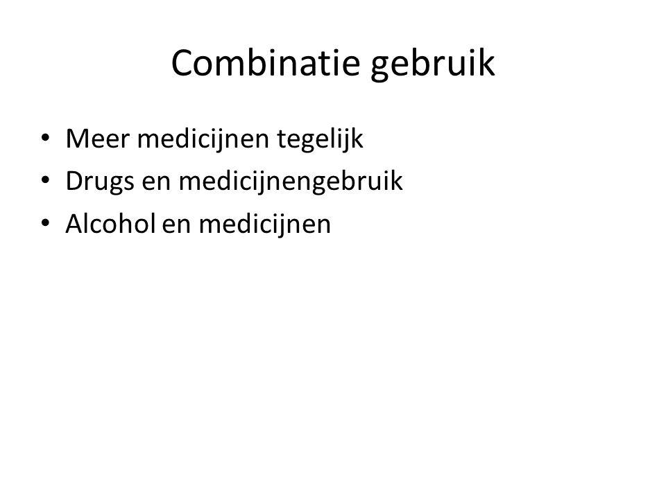 Combinatie gebruik Meer medicijnen tegelijk Drugs en medicijnengebruik