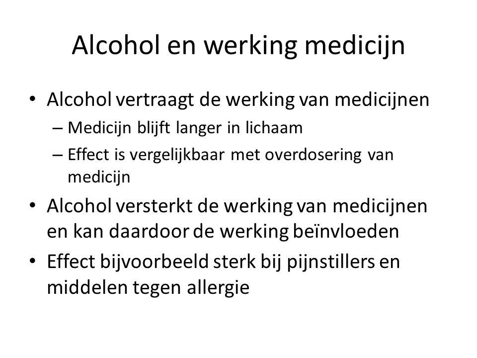 Alcohol en werking medicijn