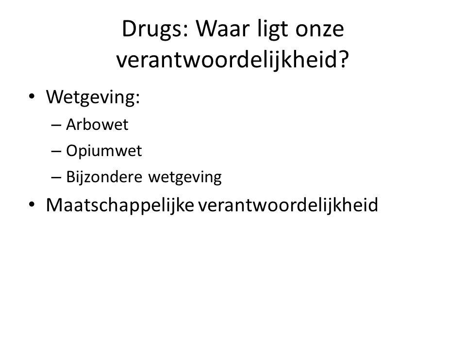 Drugs: Waar ligt onze verantwoordelijkheid