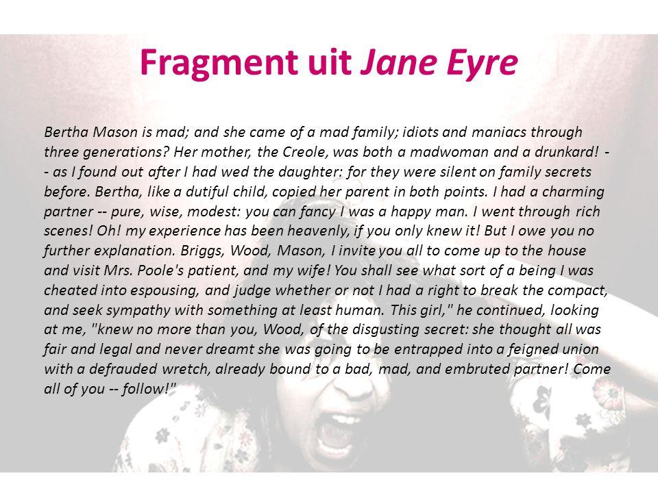 Fragment uit Jane Eyre
