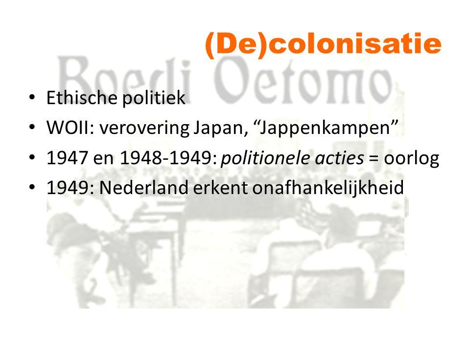 (De)colonisatie Ethische politiek