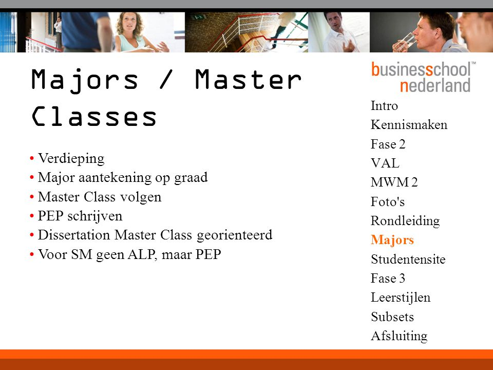 Majors / Master Classes