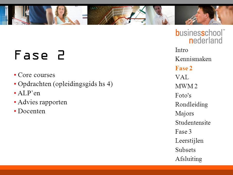 Fase 2 Core courses Opdrachten (opleidingsgids hs 4) ALP'en