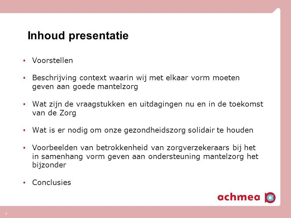 Inhoud presentatie Voorstellen
