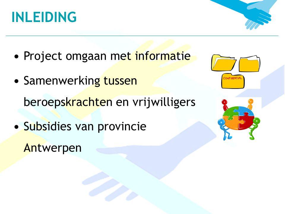 INLEIDING Project omgaan met informatie