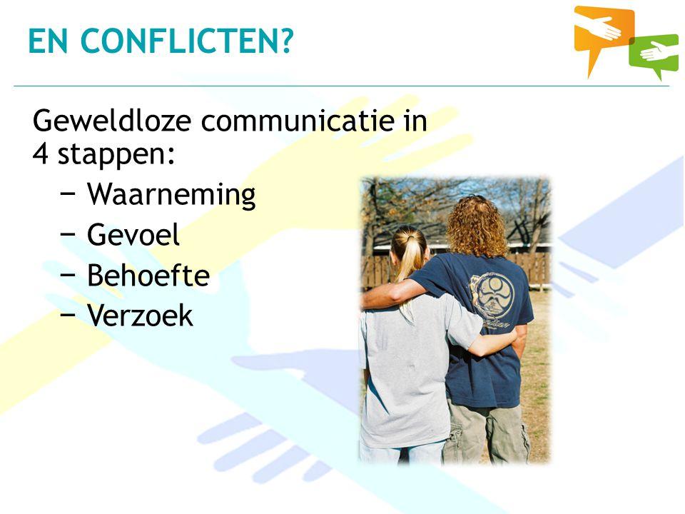 En conflicten Geweldloze communicatie in 4 stappen: Waarneming Gevoel