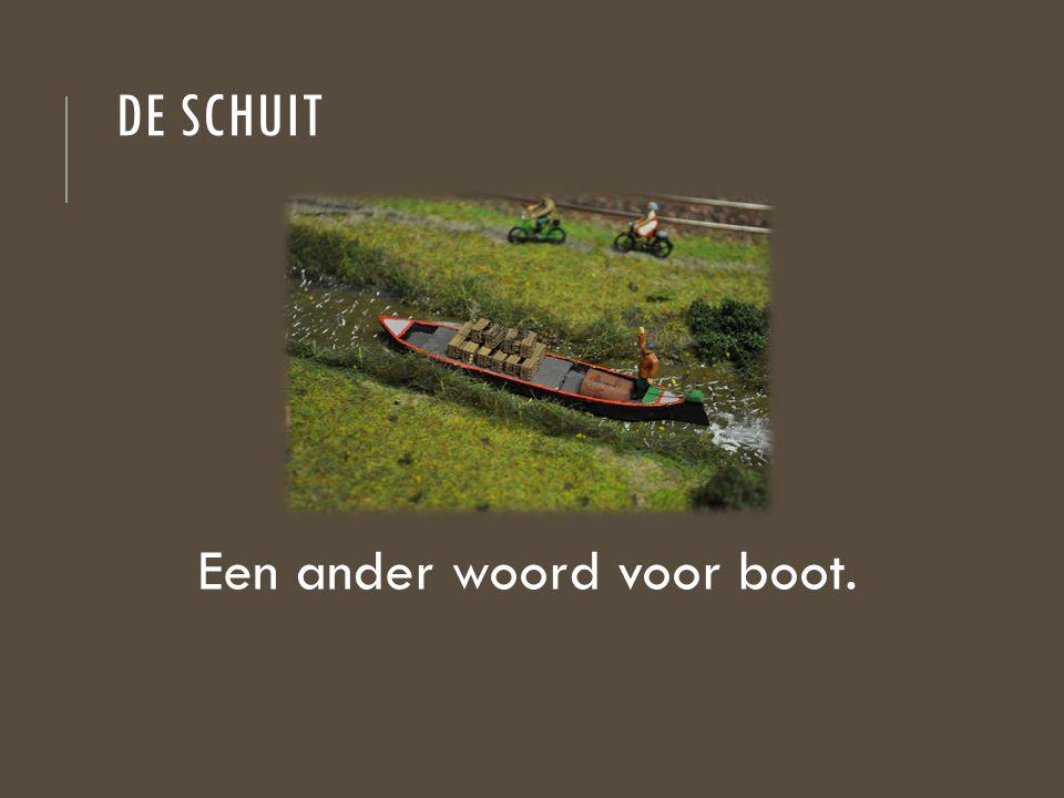 Een ander woord voor boot.