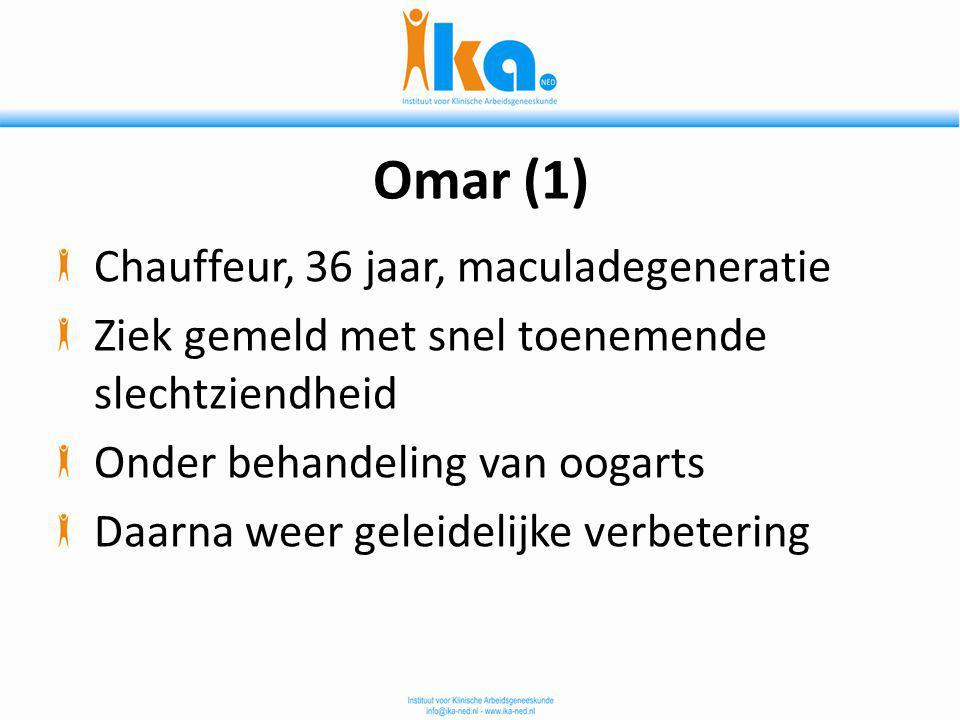 Omar (1) Chauffeur, 36 jaar, maculadegeneratie