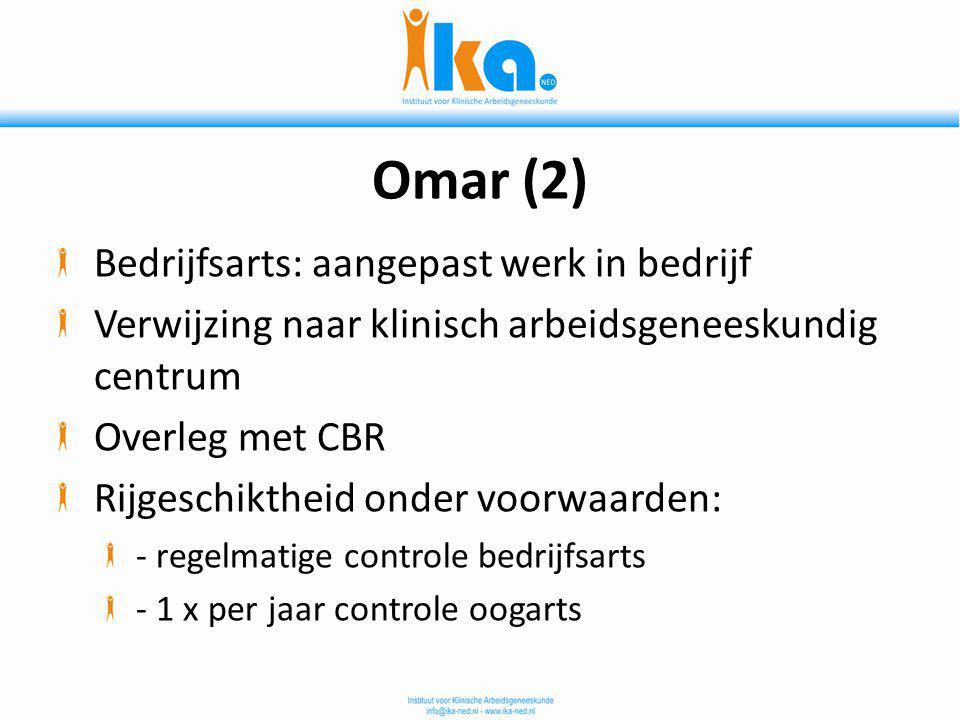 Omar (2) Bedrijfsarts: aangepast werk in bedrijf