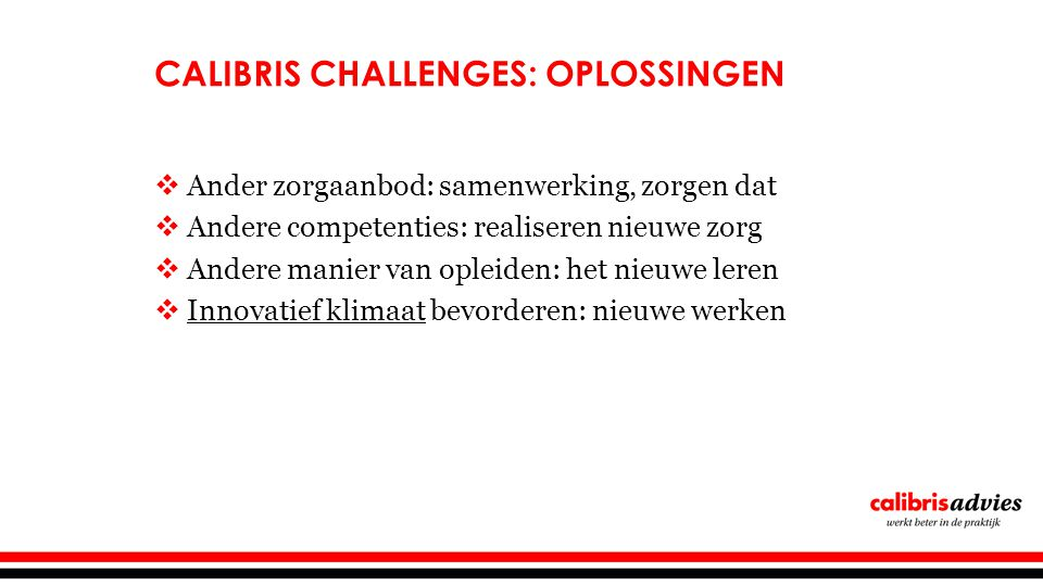 Calibris Challenges: oplossingen