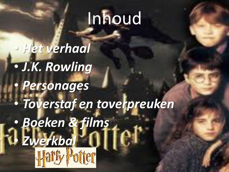 Inhoud Het verhaal J.K. Rowling Personages Toverstaf en toverpreuken