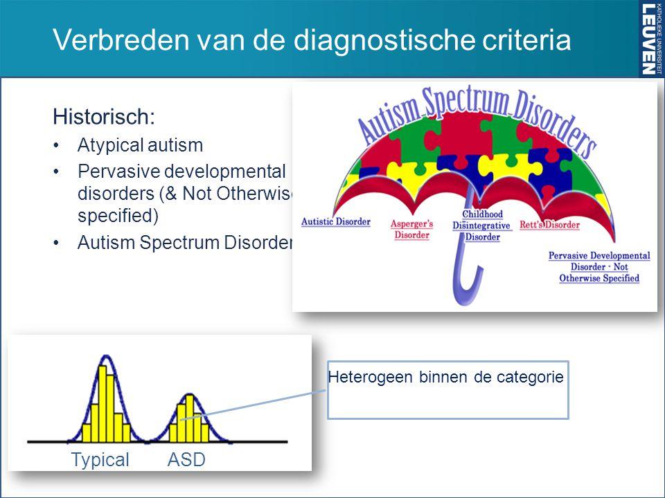 Verbreden van de diagnostische criteria