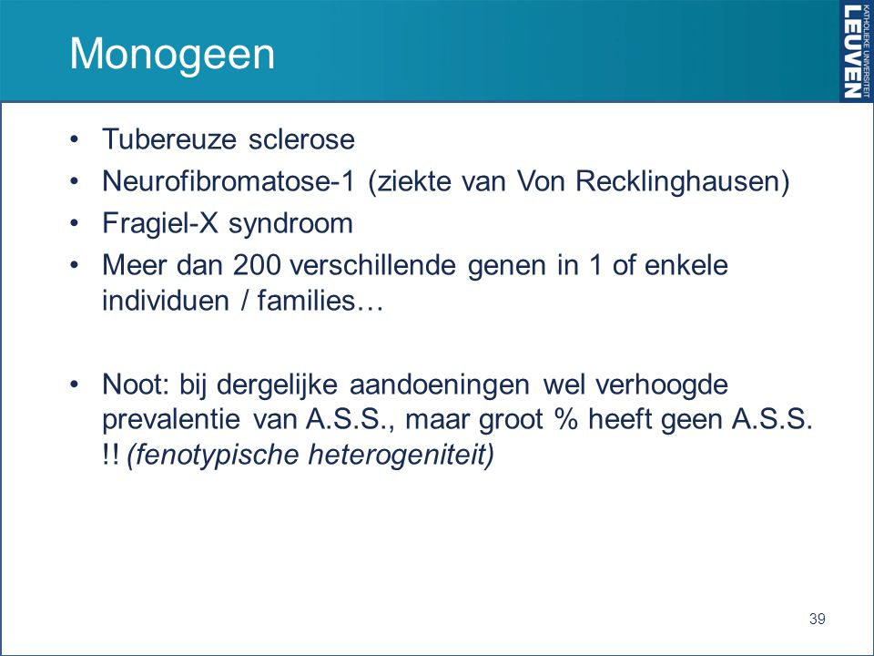 Monogeen Tubereuze sclerose