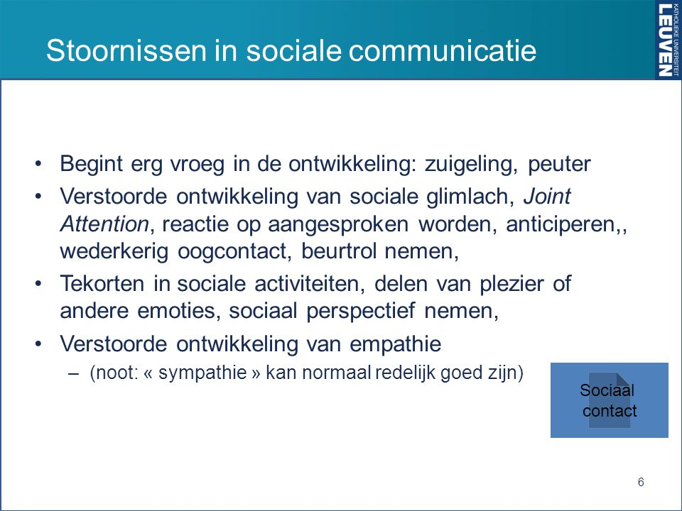 Stoornissen in sociale communicatie