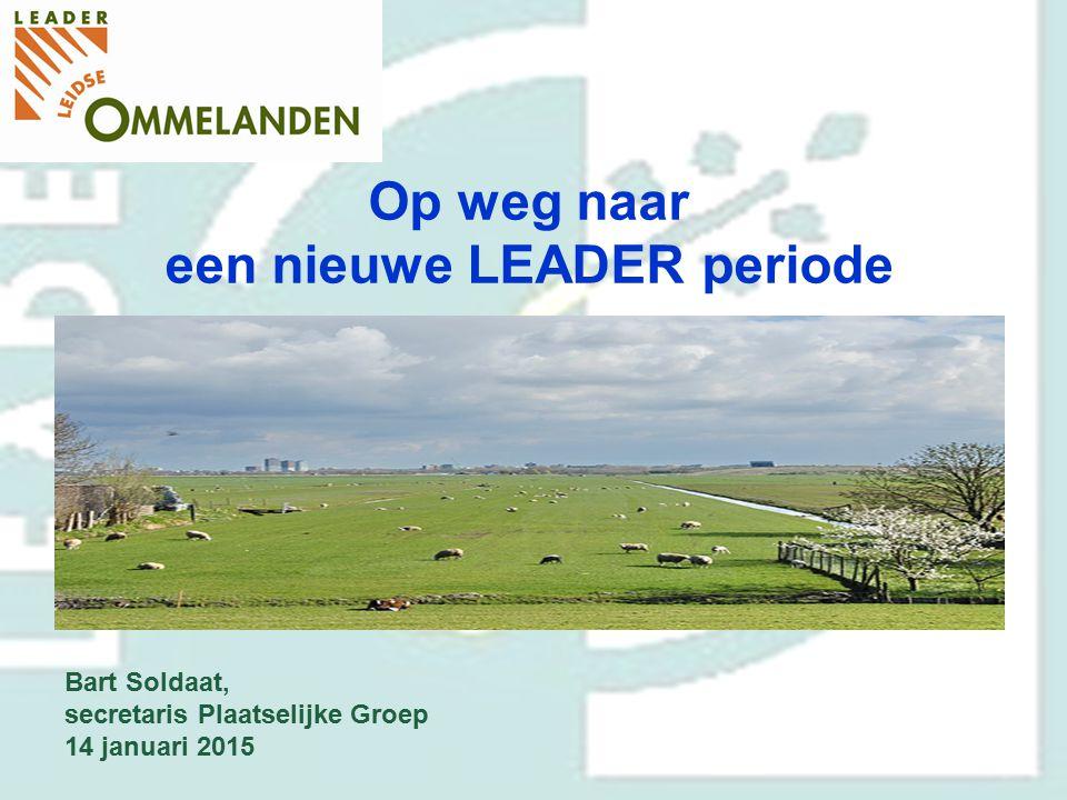 een nieuwe LEADER periode