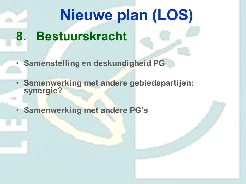 Nieuwe plan (LOS) Bestuurskracht Samenstelling en deskundigheid PG