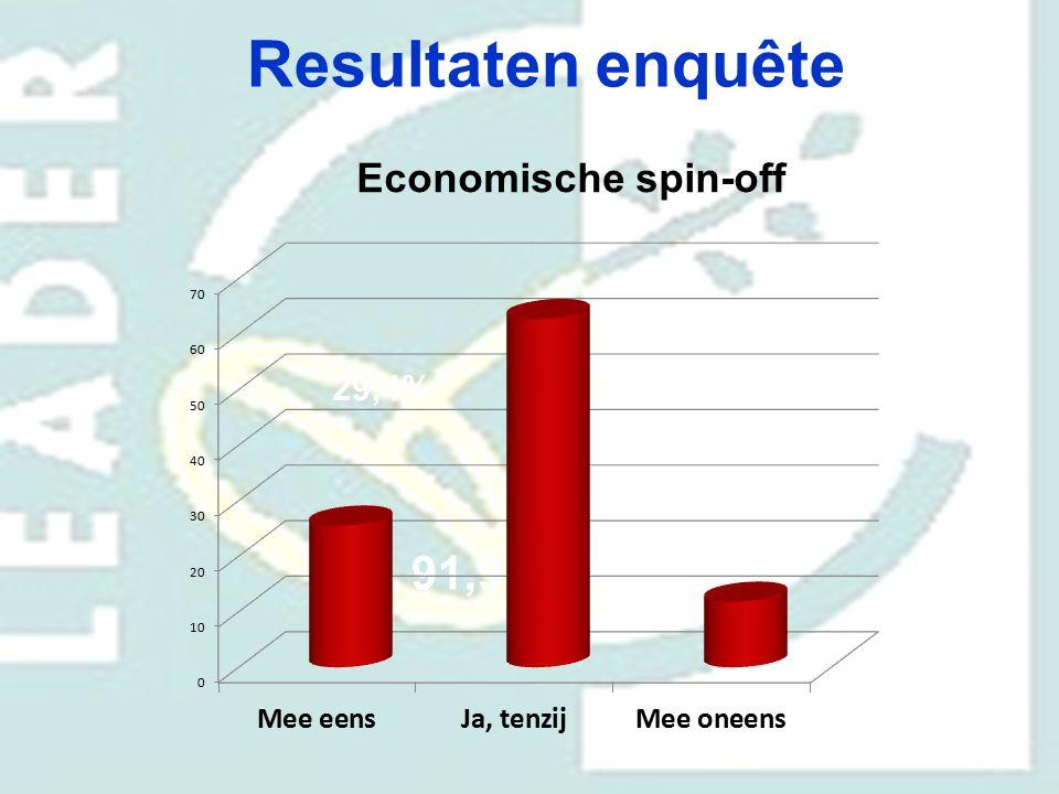 Resultaten enquête Economische spin-off 29,4% 91,9% 70,6%