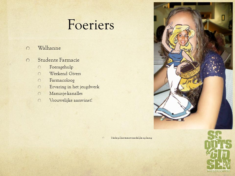 Foeriers Walhanne Studente Farmacie Foeragehulp Weekend Givers