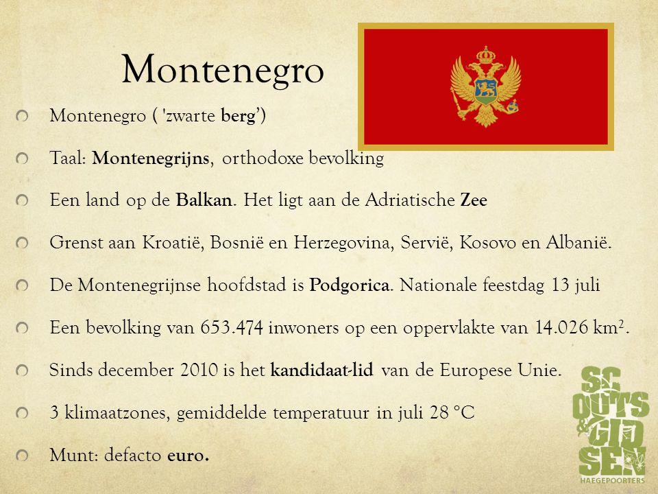 Montenegro Montenegro ( zwarte berg')