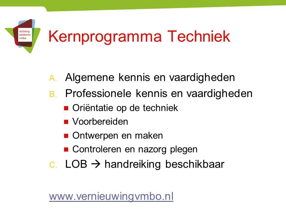 Kernprogramma Techniek