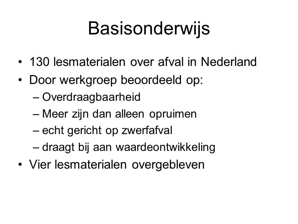 Basisonderwijs 130 lesmaterialen over afval in Nederland