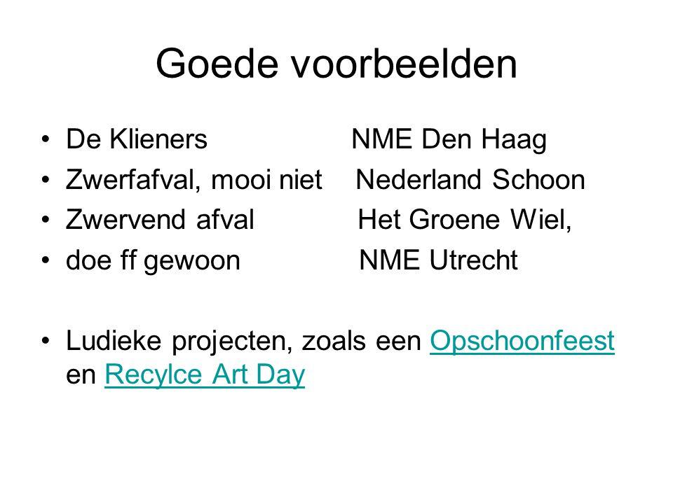 Goede voorbeelden De Klieners NME Den Haag