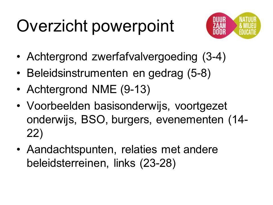 Overzicht powerpoint Achtergrond zwerfafvalvergoeding (3-4)