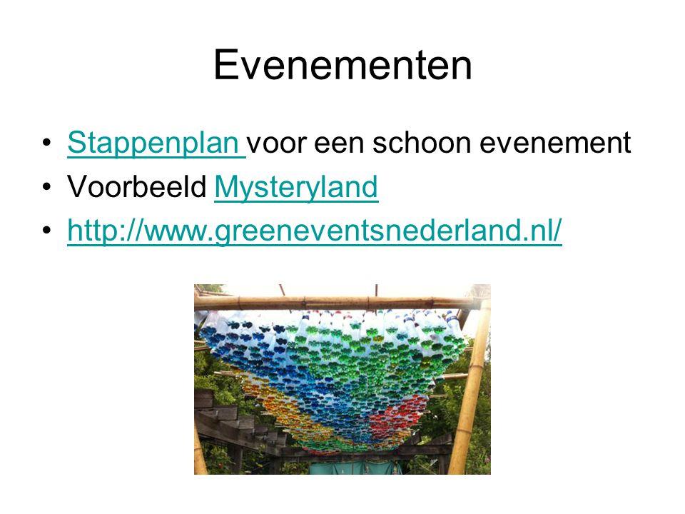 Evenementen Stappenplan voor een schoon evenement