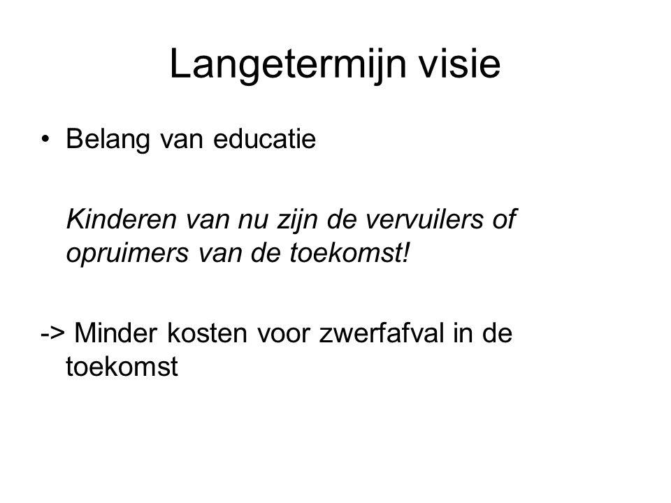 Langetermijn visie Belang van educatie
