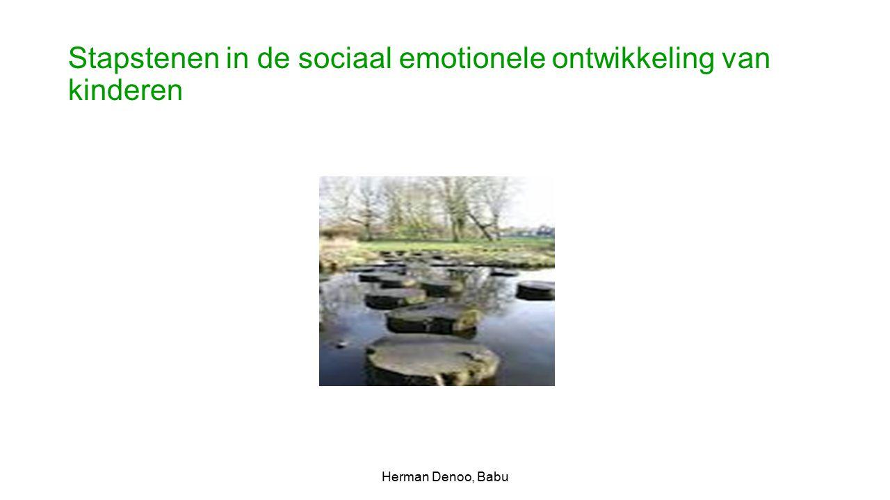 Stapstenen in de sociaal emotionele ontwikkeling van kinderen