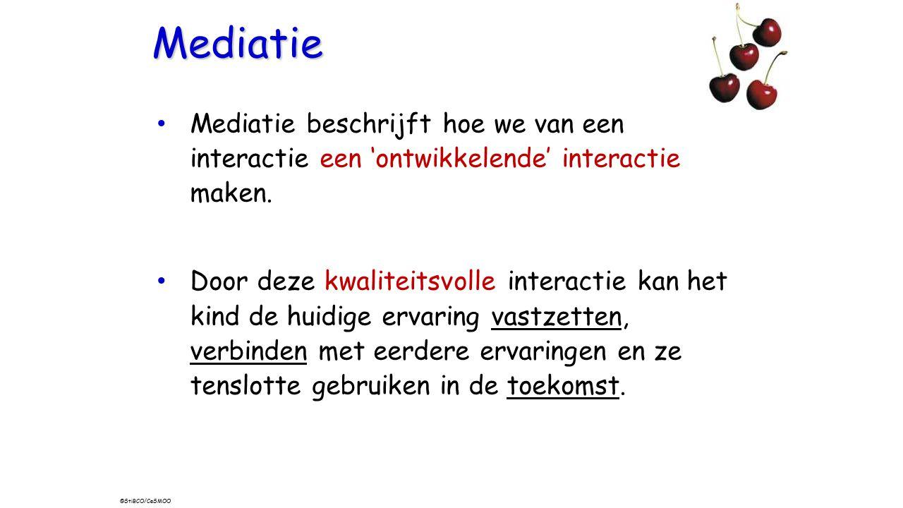 MISC Mediatie. Mediatie beschrijft hoe we van een interactie een 'ontwikkelende' interactie maken.