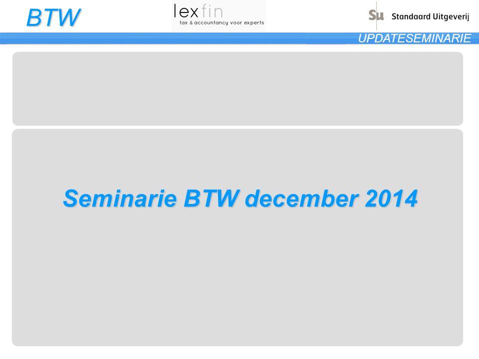 Seminarie BTW december 2014