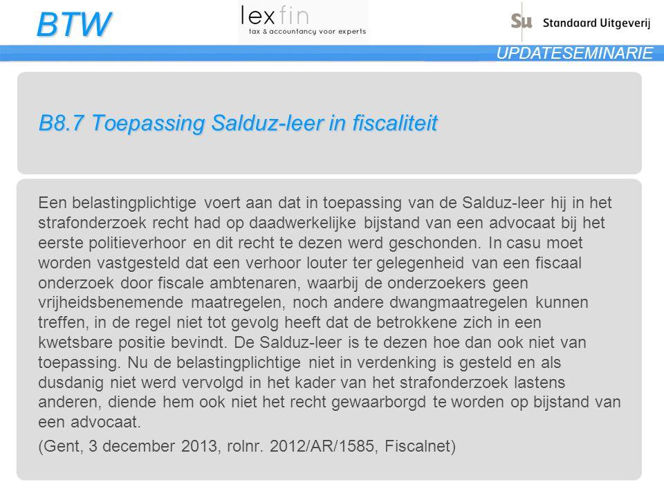 B8.7 Toepassing Salduz-leer in fiscaliteit