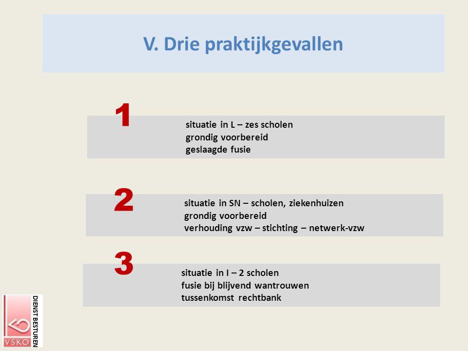 V. Drie praktijkgevallen