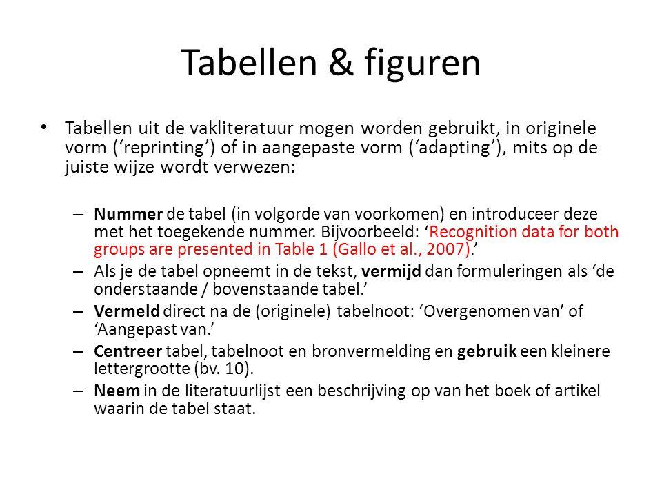 Tabellen & figuren