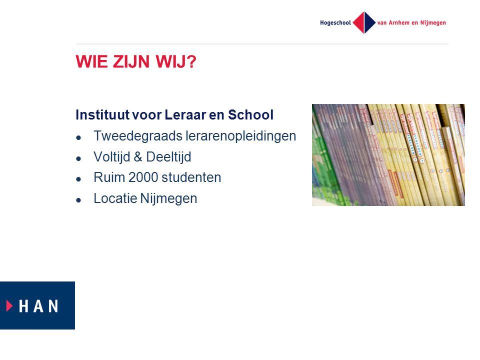 WIE ZIJN WIJ Instituut voor Leraar en School
