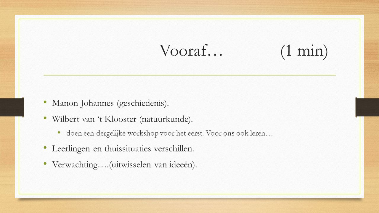 Vooraf… (1 min) Manon Johannes (geschiedenis).