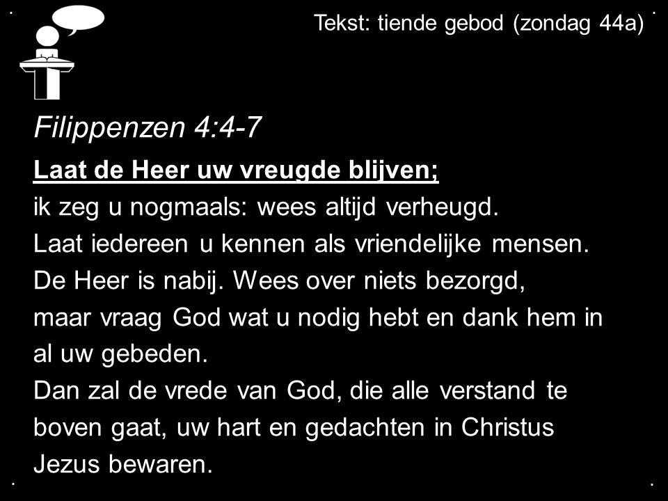 Filippenzen 4:4-7 Laat de Heer uw vreugde blijven;