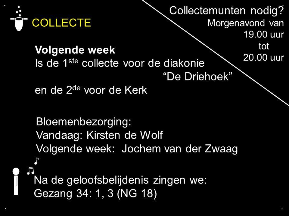 COLLECTE Collectemunten nodig Volgende week