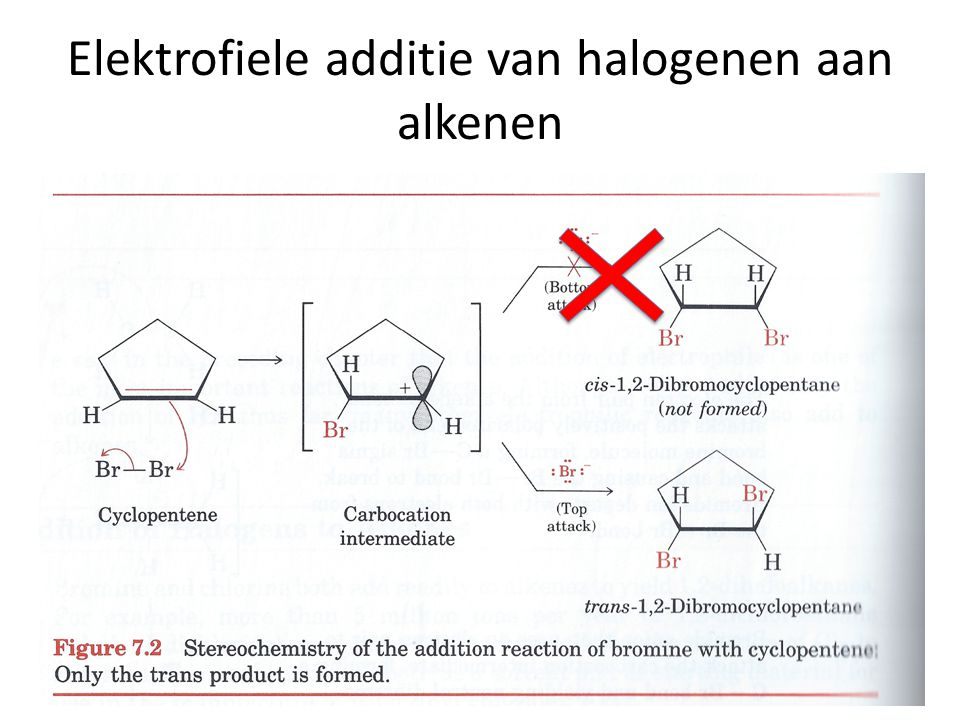 stereochemistry of bromine addition