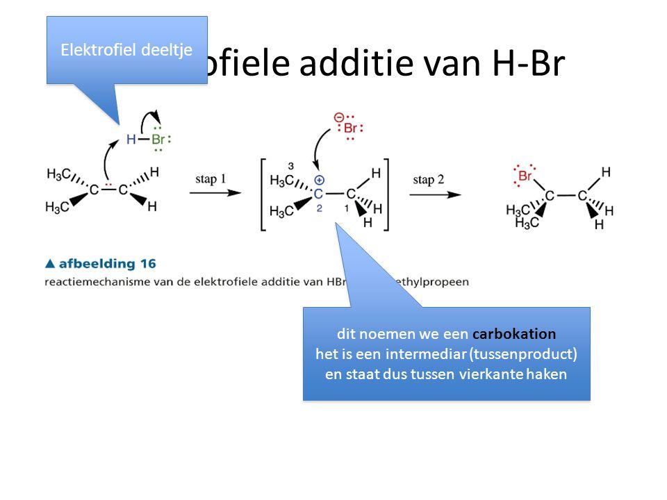 elektrofiele additie van H-Br