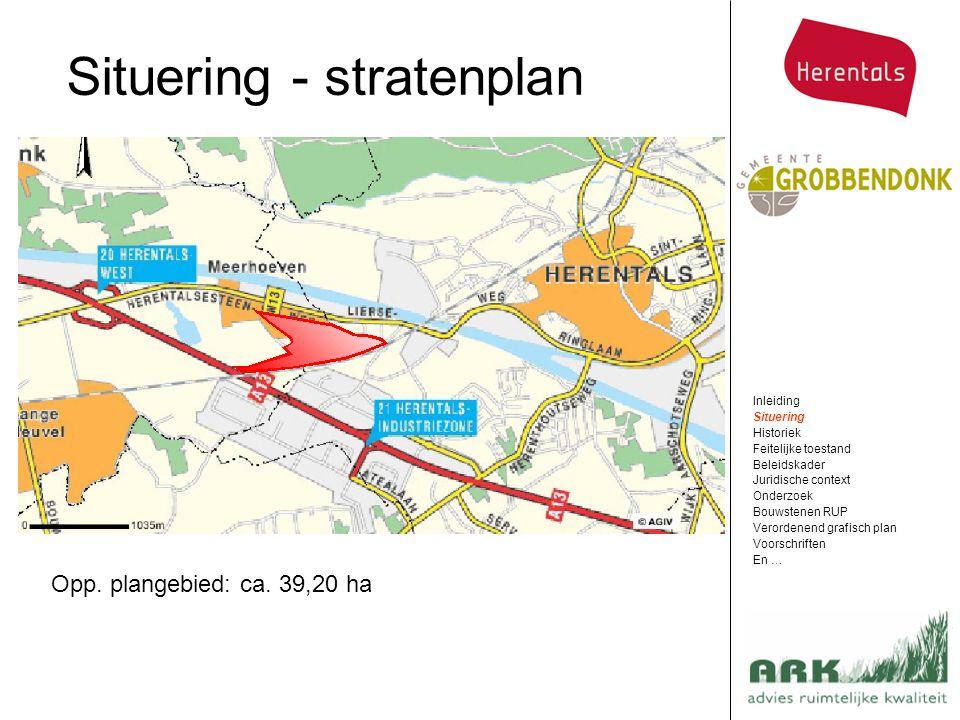 Situering - stratenplan