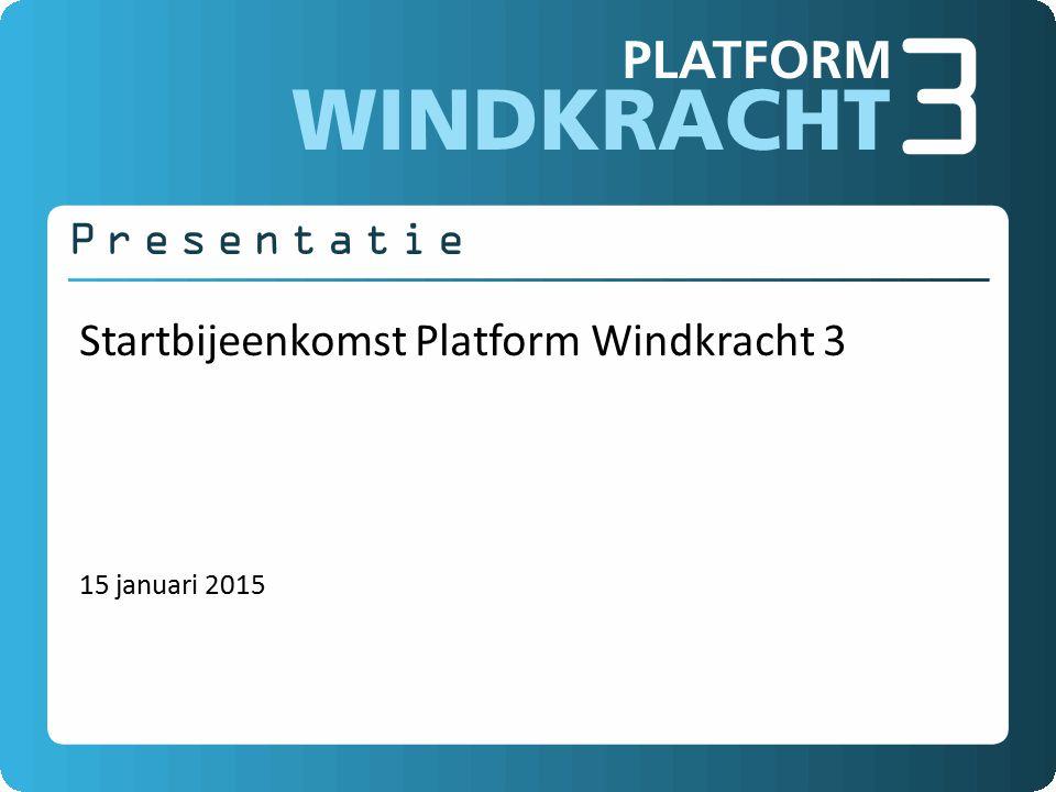 Startbijeenkomst Platform Windkracht 3