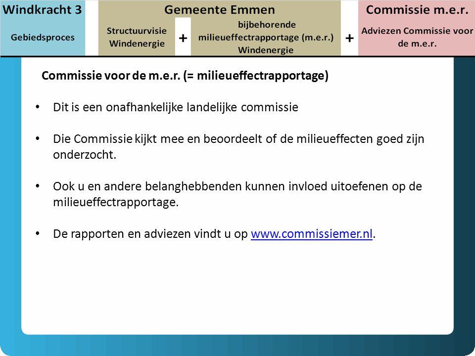 Commissie voor de m.e.r. (= milieueffectrapportage)