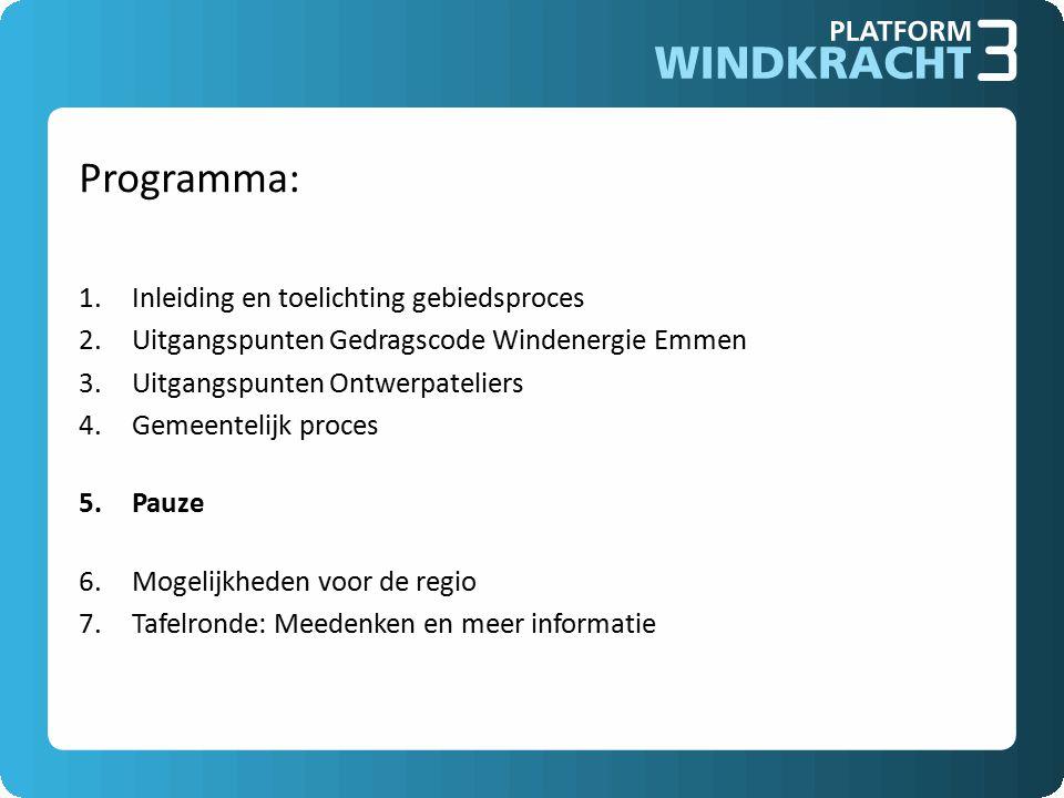 Programma: Inleiding en toelichting gebiedsproces