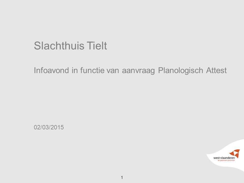 Slachthuis Tielt Infoavond in functie van aanvraag Planologisch Attest