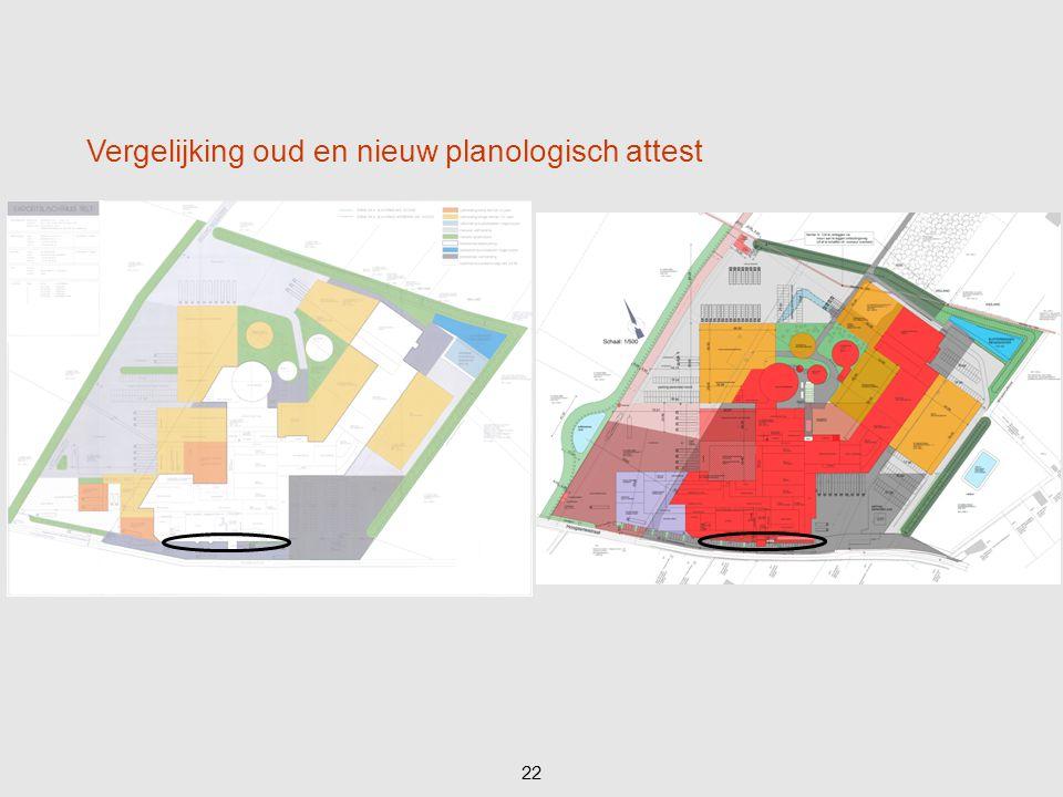 Vergelijking oud en nieuw planologisch attest