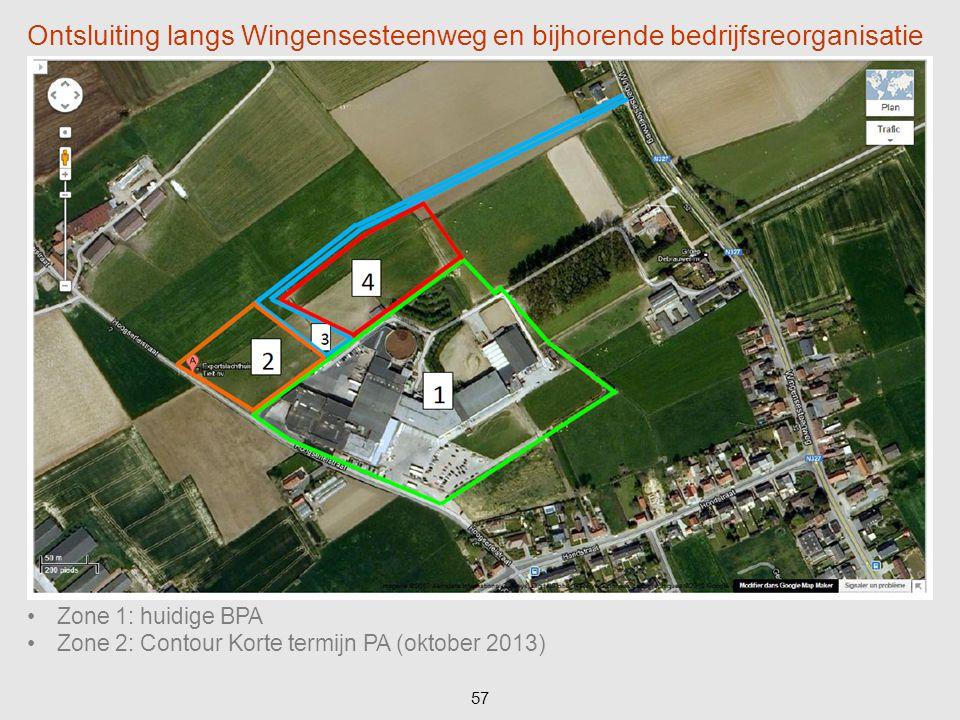 Ontsluiting langs Wingensesteenweg en bijhorende bedrijfsreorganisatie